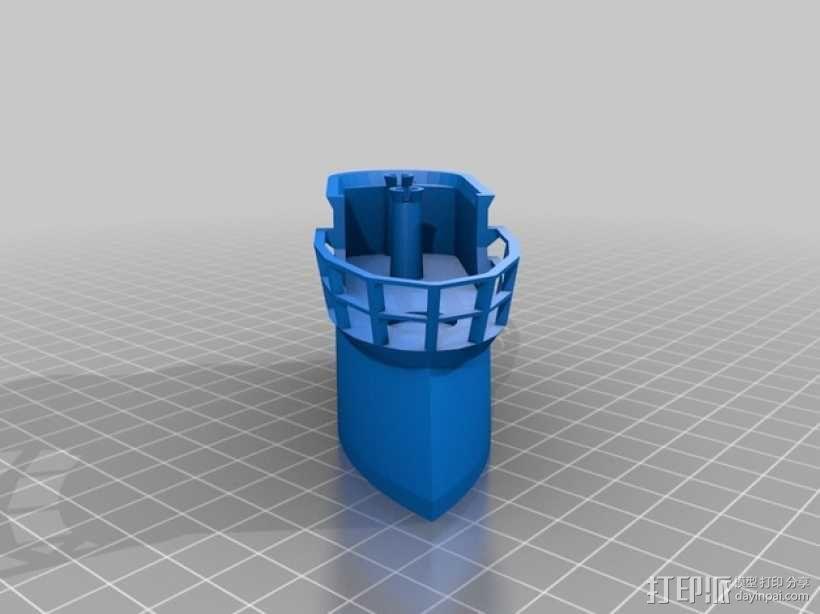 大型巡洋舰 3D模型  图4