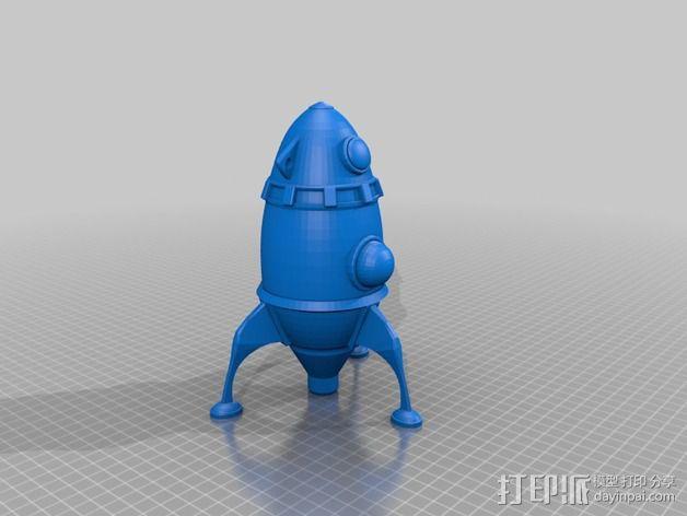 制动火箭 3D模型  图2
