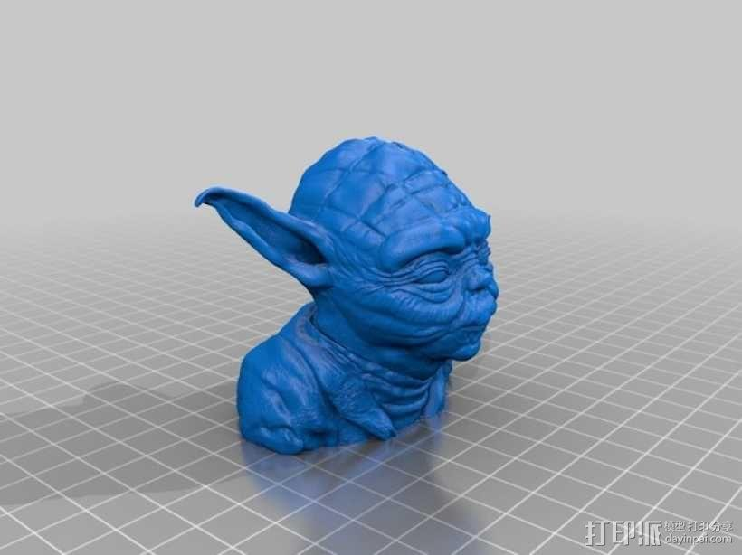 发光的尤达大师 3D模型  图2