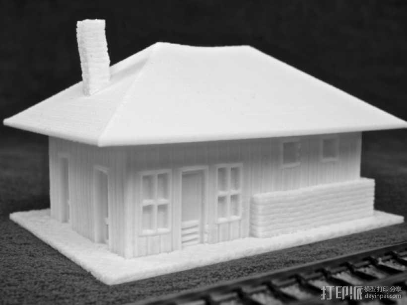 Dante Station房屋建筑 3D模型  图1