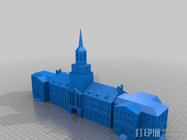 辛辛纳提大学  McMicken大厅 3D模型  图2