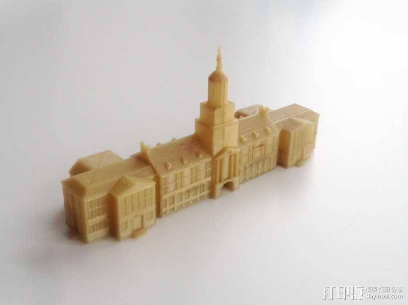辛辛纳提大学  McMicken大厅 3D模型  图1