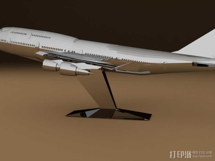 波音747飞机模型 3D模型  图1