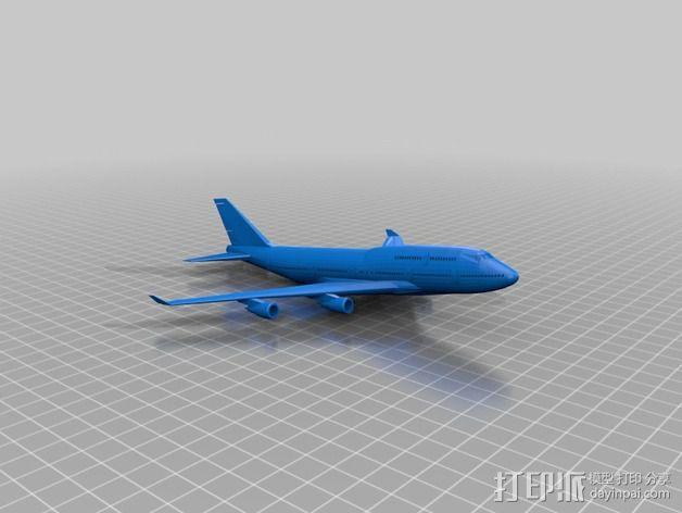 波音747飞机模型 3D模型  图6