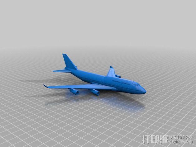 波音747飞机模型 3D模型  图8