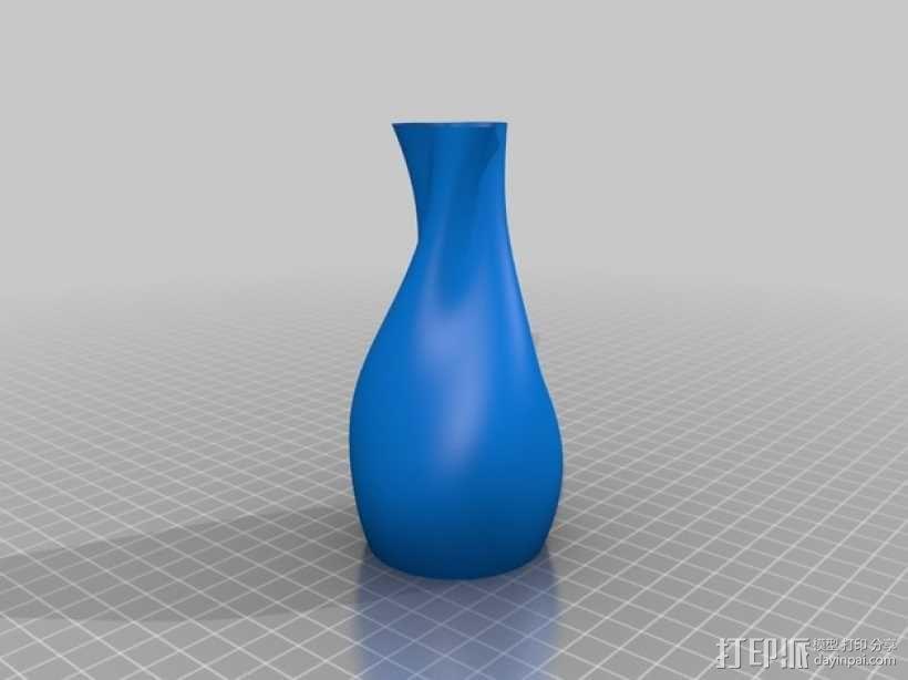 正弦和余弦曲线花瓶 3D模型  图3
