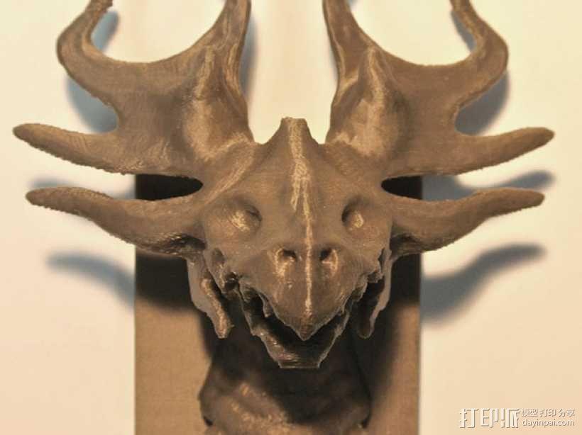 野火龙 墙壁挂钩 3D模型  图3