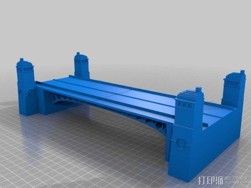 密歇根大街桥 3D模型  图1
