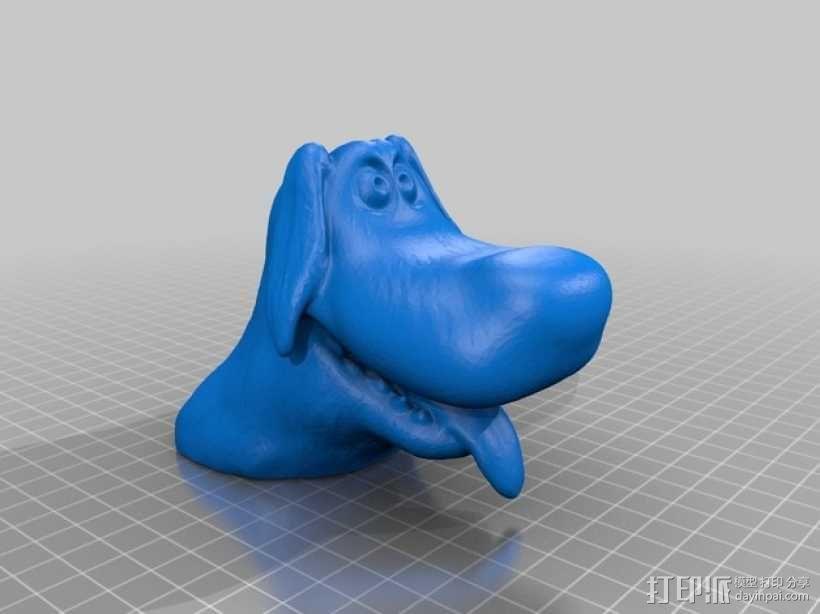 卡通狗 3D模型  图1
