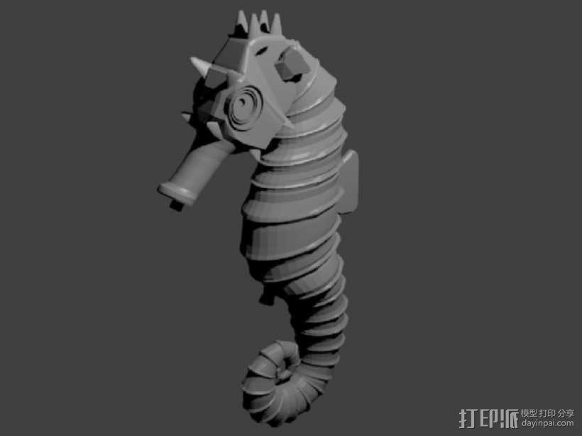 海马 3D模型  图1