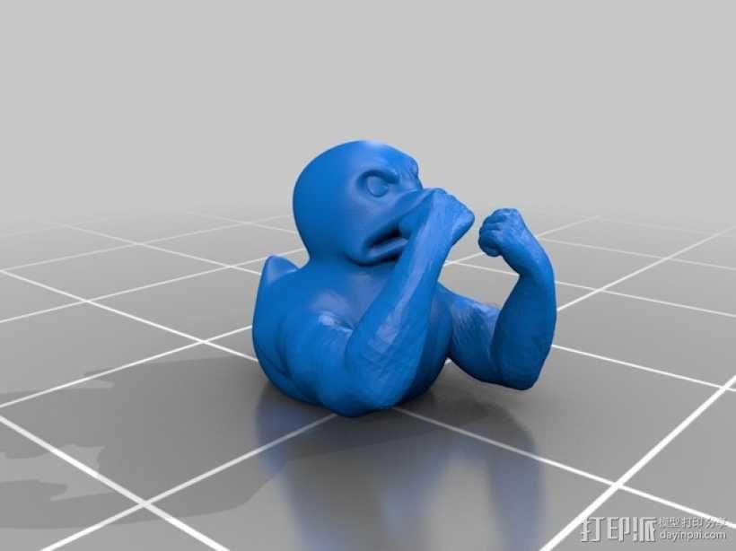 邪恶健壮的鸭子 3D模型  图1