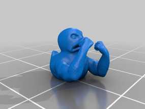 邪恶健壮的鸭子 3D模型
