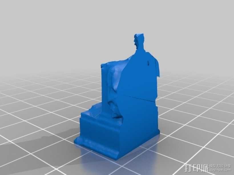 林肯雕塑  3D模型  图2