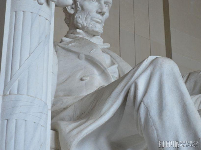 林肯雕塑  3D模型  图1