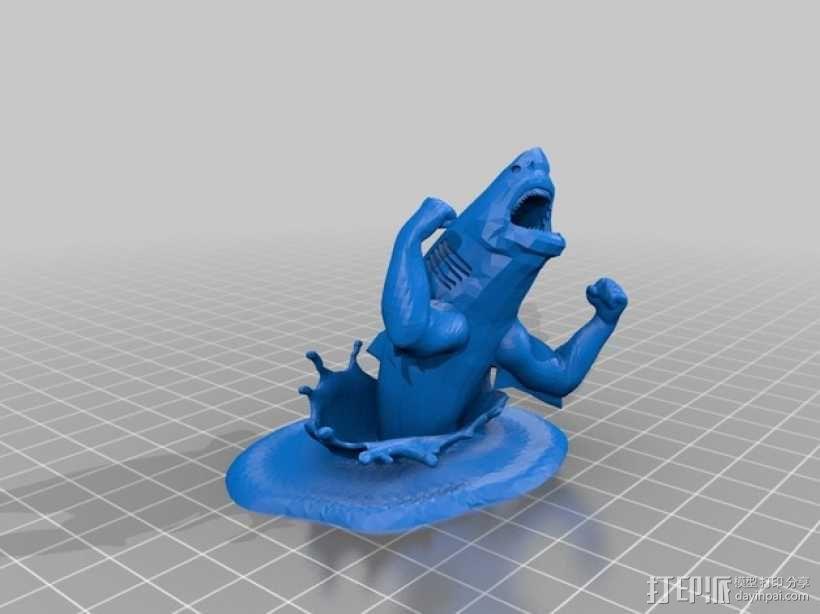 强壮的鲨鱼  3D模型  图1