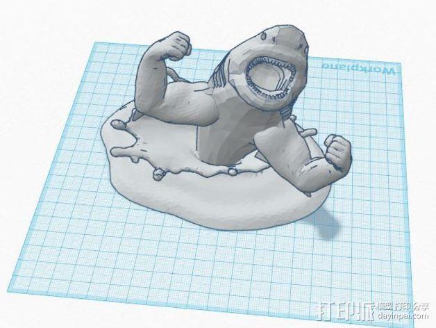 强壮的鲨鱼  3D模型  图3