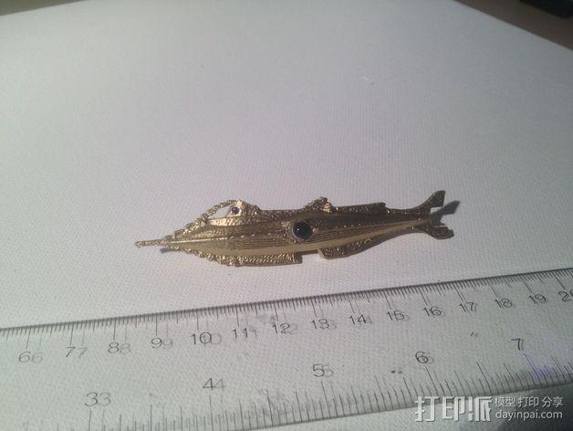 瓶子中的鹦鹉螺 3D模型  图1