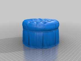 圆形沙发凳 3D模型