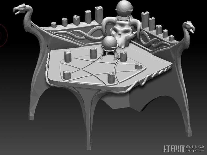 上古卷轴 附魔台  3D模型  图1