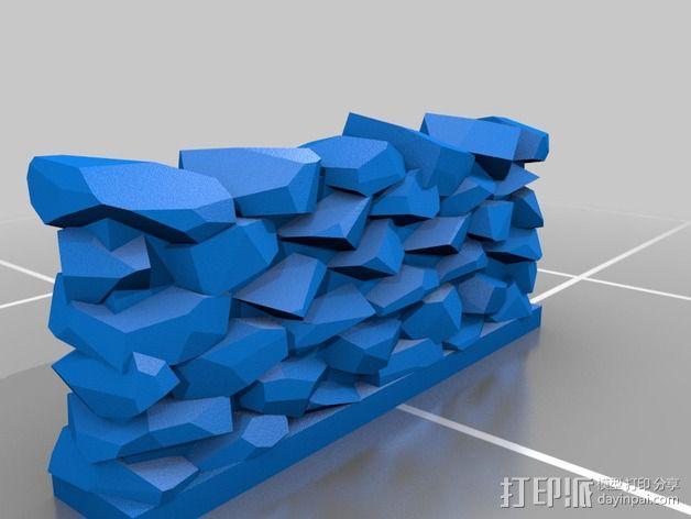 石墙 3D模型  图2