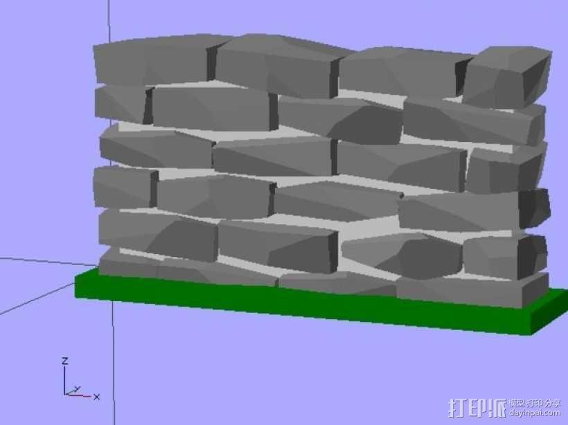石墙 3D模型  图5