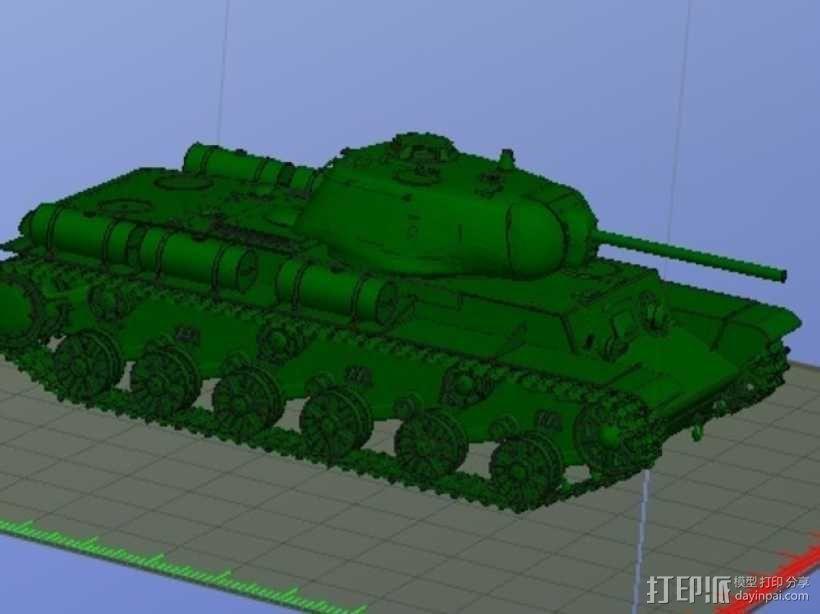 KV-1S坦克 3D模型  图1