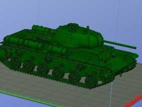 KV-1S坦克 3D模型