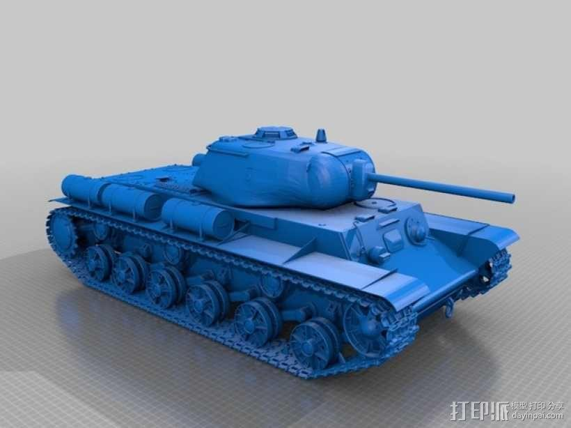 KV-1S坦克 3D模型  图2