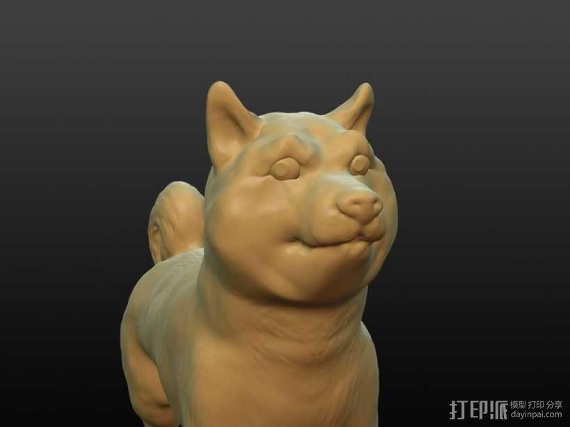 小狗模型 3D模型  图1