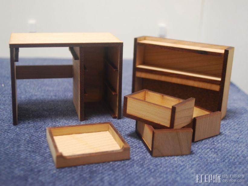 宿舍的桌子和柜子 3D模型  图3