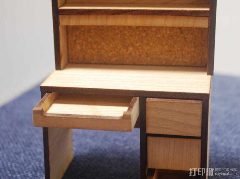 宿舍的桌子和柜子 3D模型  图4