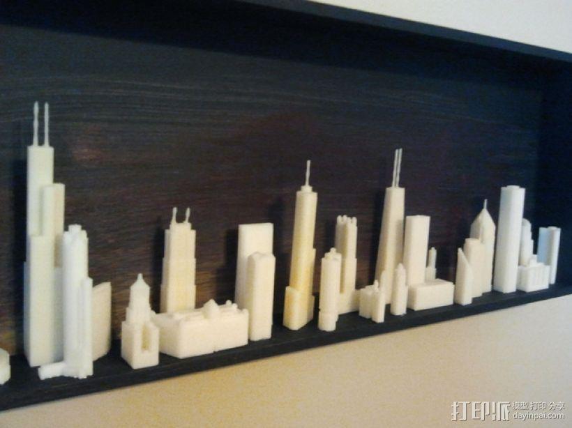 芝加哥摩天大厦 3D模型  图1