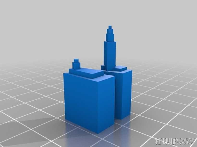 芝加哥摩天大厦 3D模型  图9