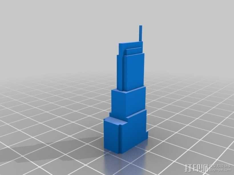 芝加哥摩天大厦 3D模型  图21