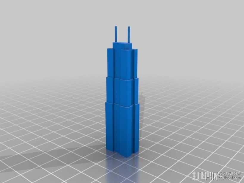 芝加哥摩天大厦 3D模型  图24