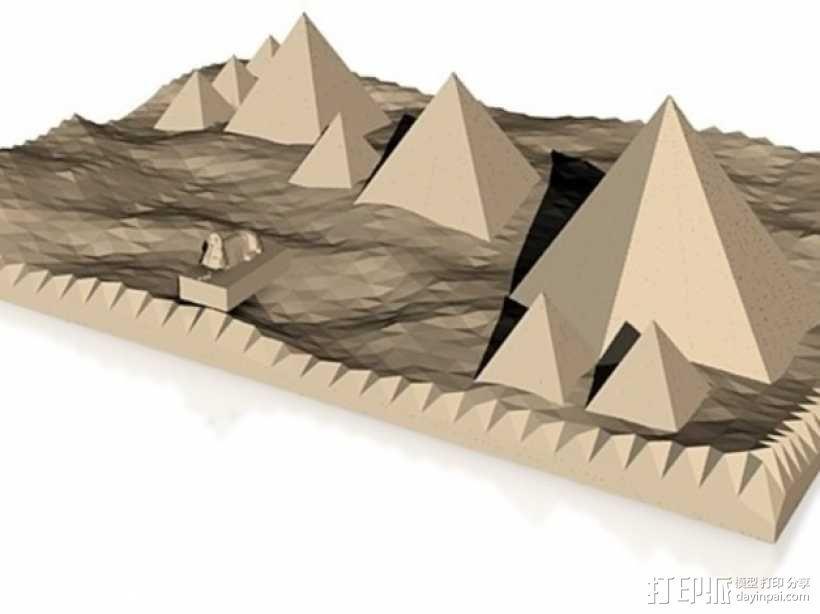 金字塔和狮身人面像 3D模型  图1