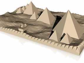 金字塔和狮身人面像 3D模型