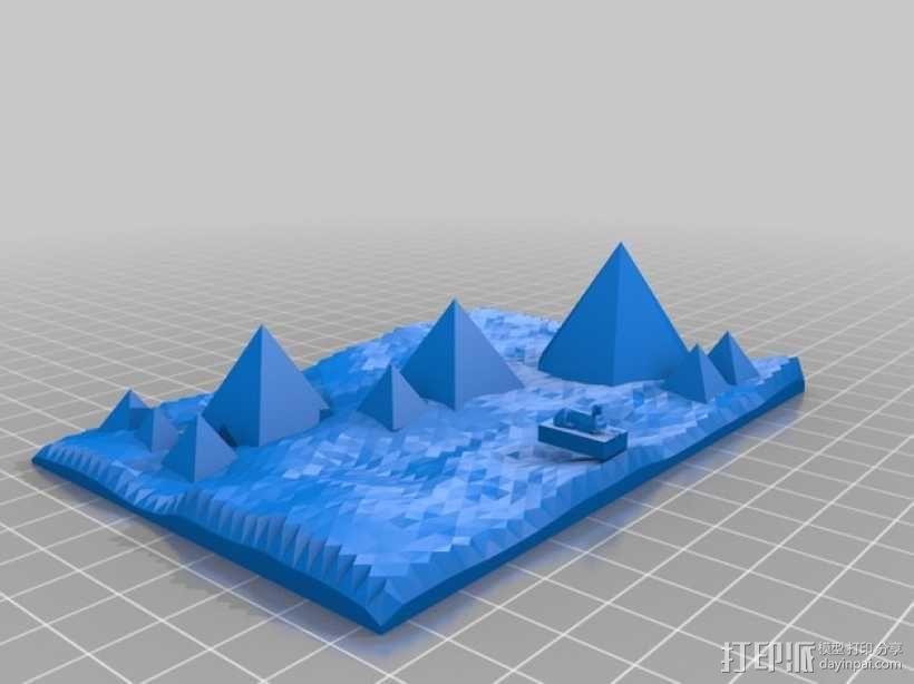 金字塔和狮身人面像 3D模型  图2