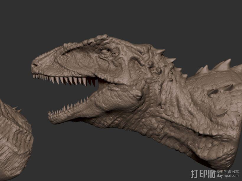 班卓龙头部模型 3D模型  图1