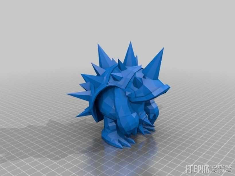 皮甲龙龟 3D模型  图1
