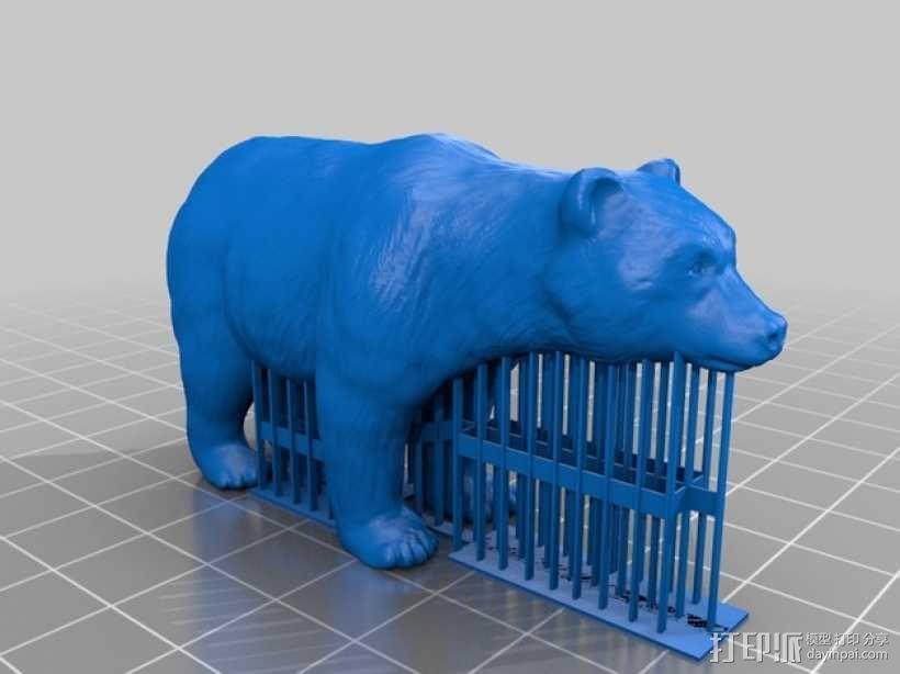 狗熊 3D模型  图1