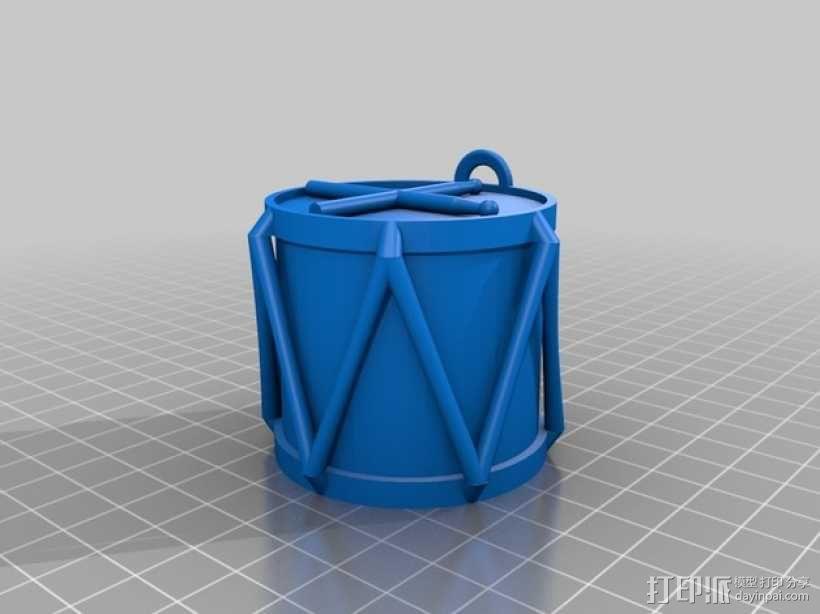 鼓 吊饰 3D模型  图3