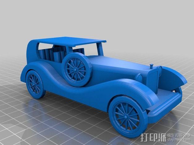 复古车模型 3D模型  图2