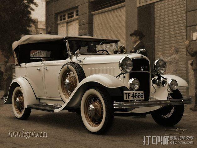 复古车模型 3D模型  图3
