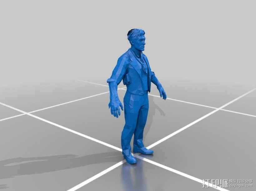 Booker DeWitt人像模型 3D模型  图1