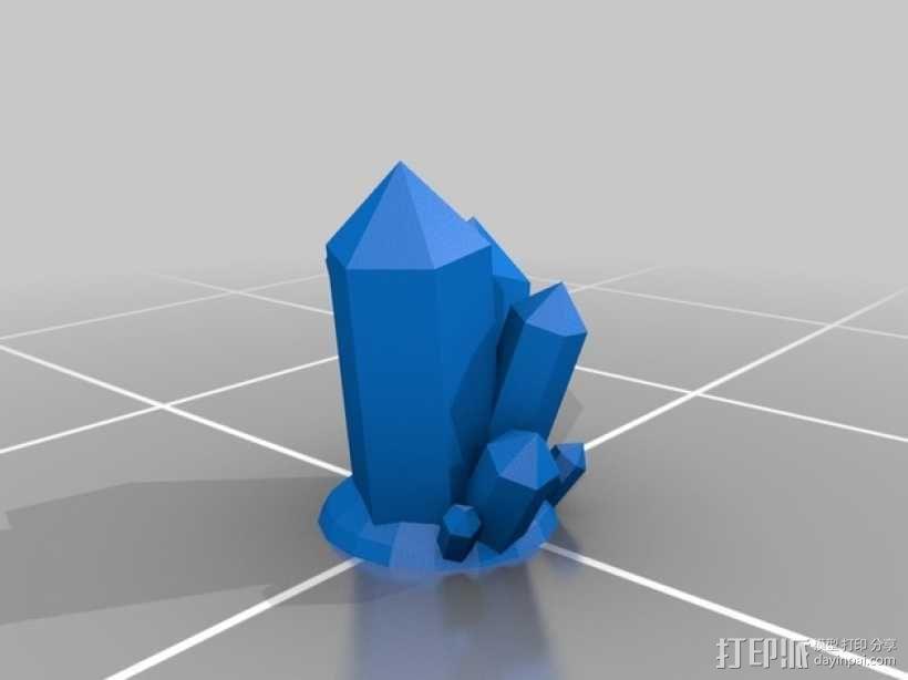 大水晶 3D模型  图1