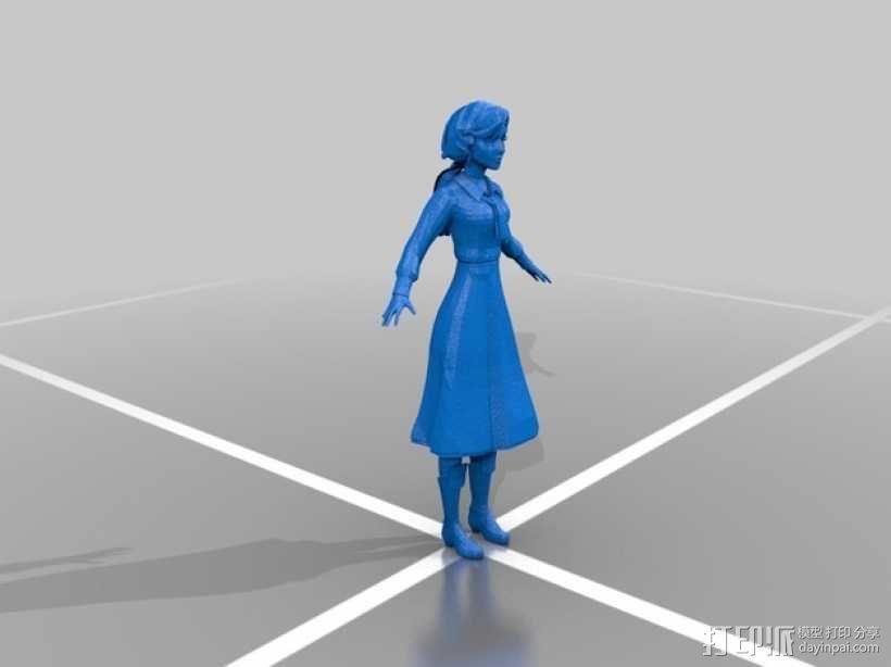 伊丽莎白人物模型 3D模型  图1
