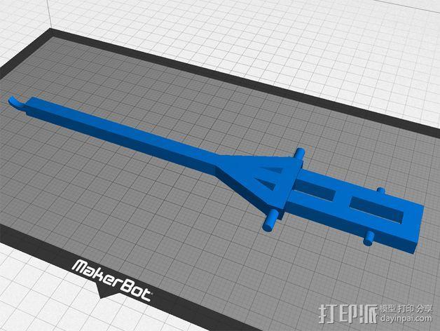 弹弓抛石机 3D模型  图4