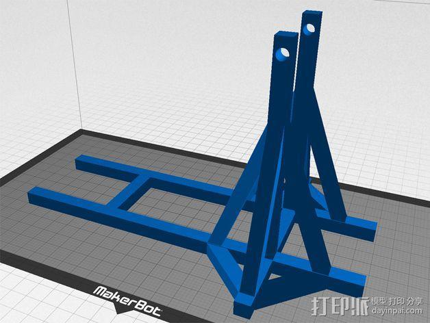 弹弓抛石机 3D模型  图3