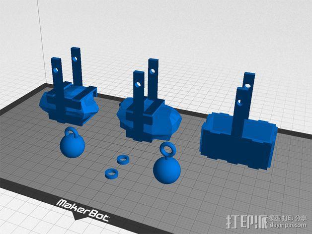 弹弓抛石机 3D模型  图5